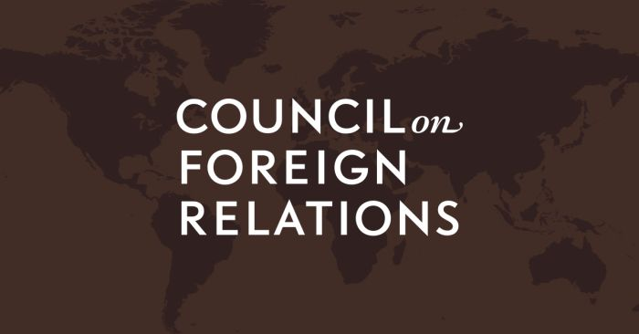 Council on Foreign Relations Volunteer Internships, Spring 2019