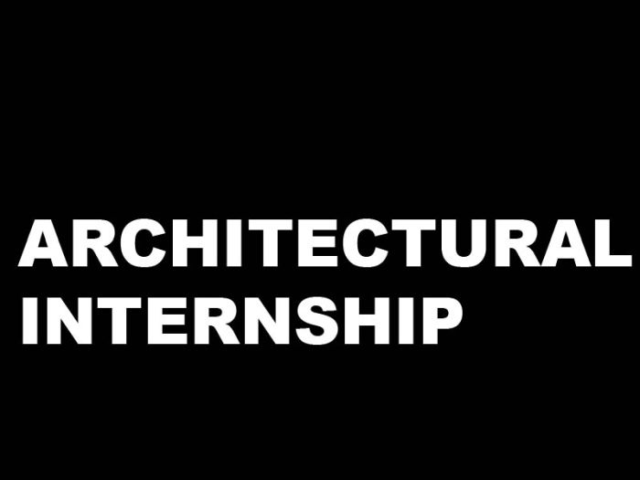 Architecture Internships in the United States, 2019