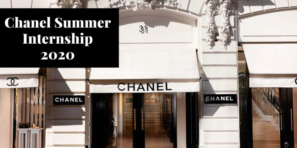 Chanel Summer Internship 2020