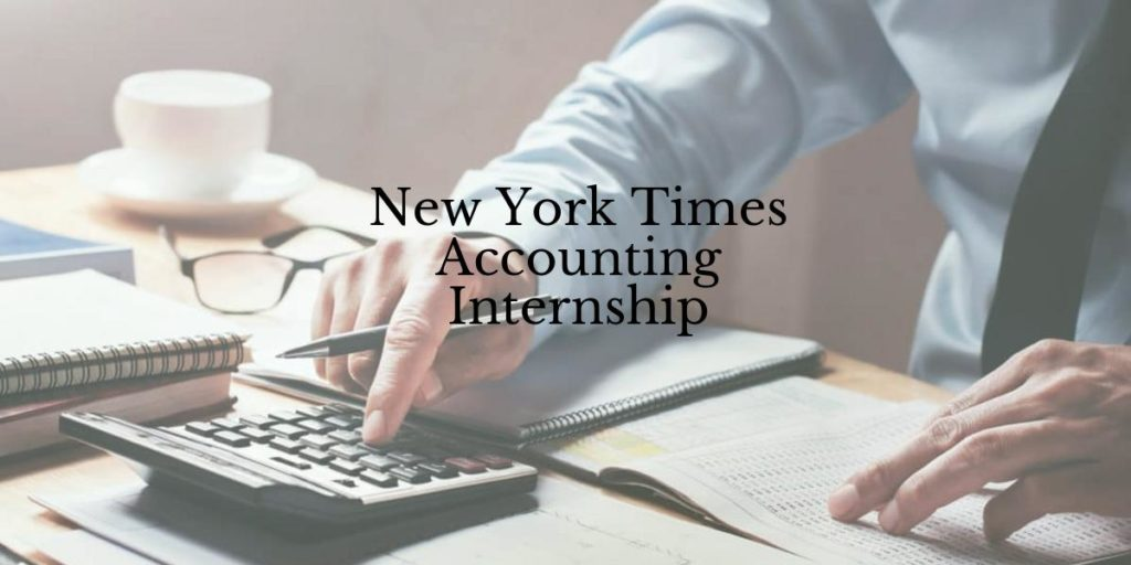 New York Times Accounting Internship