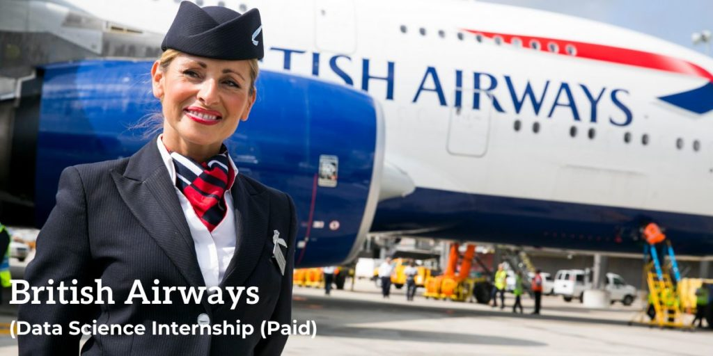 British Airways Data Science Internship (Paid)