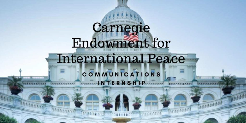 Carnegie Endowment for International Peace Communications Internship
