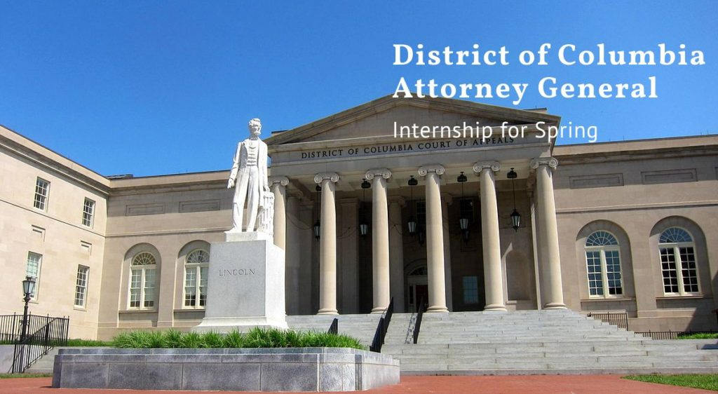 District of Columbia Attorney General Internship for Spring