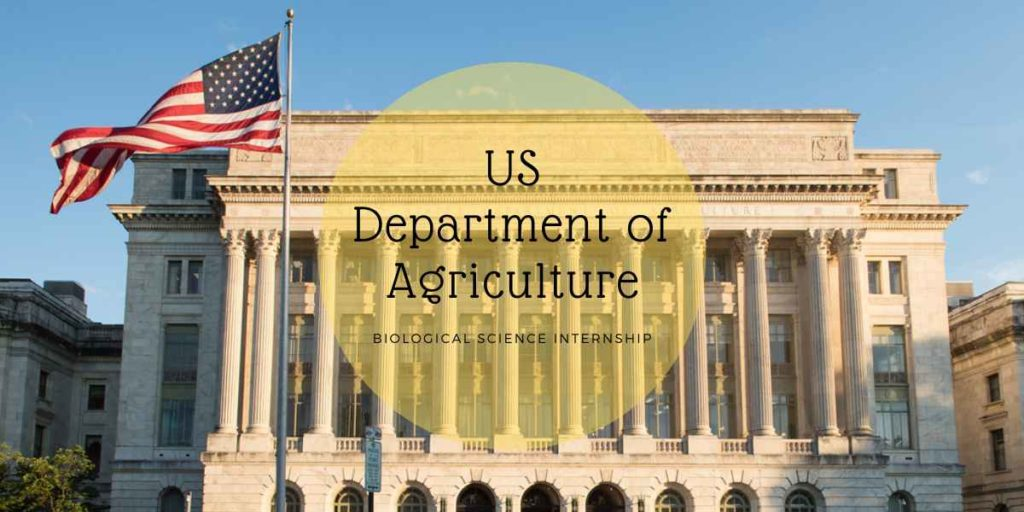 US Department of Agriculture Biological Science Internship